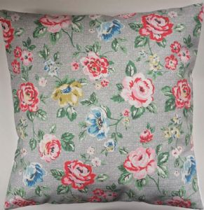 "Cushion Cover in Cath Kidston Rainbow Rose Grey 14"" 16"" 18"" 20"""